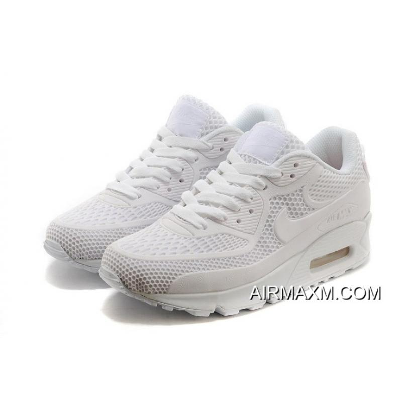 big sale 83255 cd51a Outlet Nike Air Max 90 Essential All White Men Women