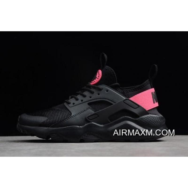 19598d584a3c Women Men Outlet Nike Air Huarache Run Ultra Black Hyper Pink 847568-003 ...
