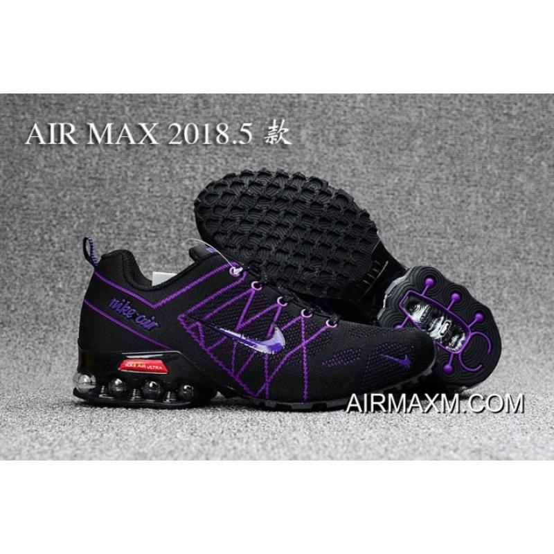 Top Deals Nike Air Max 2018 Black Purpel Women Shoes