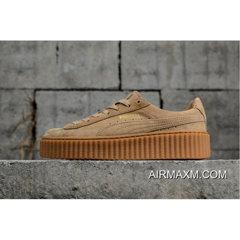 more photos 67ee5 545d6 Puma Rihanna Original Be Suede Creepers-Flatform Shoes 361005-03 Big Deals