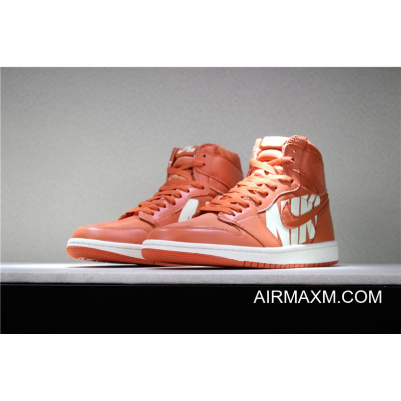 4a52bd803d1fe9 ... Women Men Off-White X Air Jordan 1 Nike Swoosh Orange White 555088 ...