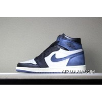 "Air Jordan 1 Retro High OG ""Blue Moon"" Men's Basketball Shoes 555088-115 Authentic"