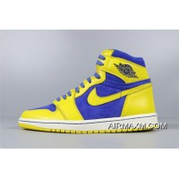"Air Jordan 1 Retro High OG ""Laney"" Varisty Maize/Game Royal-White 555088-707 New Style"