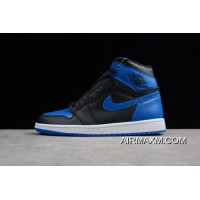 "Air Jordan 1 Retro High OG ""Royal"" Black/Varsity Royal-White 555088-007 Authentic"