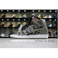 "Air Jordan 1 Retro High Premium ""Shadow Camo"" Black/Dark Stucco-White AA3993-034 New Style"