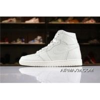 "Air Jordan 1 High Premium ""Pure Platinum"" AA3993-030 Men's Size Super Deals"