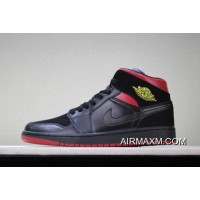 "Air Jordan 1 Mid ""Last Shot"" Black/Red-Yellow Men's And Women's Size 554724-076 For Sale"