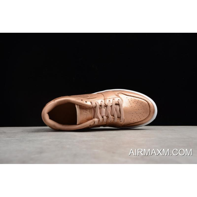 7fec80c9a71 ... Women s Air Jordan 1 Low GS Lifted Metallic Red Bronze Sail AO1334-901  Super ...