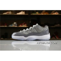 "Discount Air Jordan 11 Low ""Cool Grey"" Medium Grey/Gunsmoke-White Men's Size"