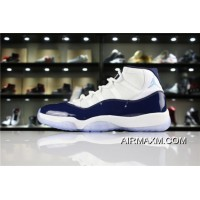 "Women/Men Where To Buy Air Jordan 11 ""Win Like '82"" UNC White/Midnight Navy-University Blue 378037-123"