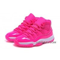 "Big Deals Women's Air Jordan 11 GS ""Pink Everything"" Pink White Shoes"