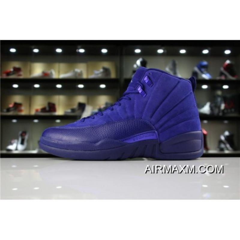 "10b371689ca Discount Air Jordan 12 ""Blue Suede"" Deep Royal Blue/White-Metallic Silver  ..."