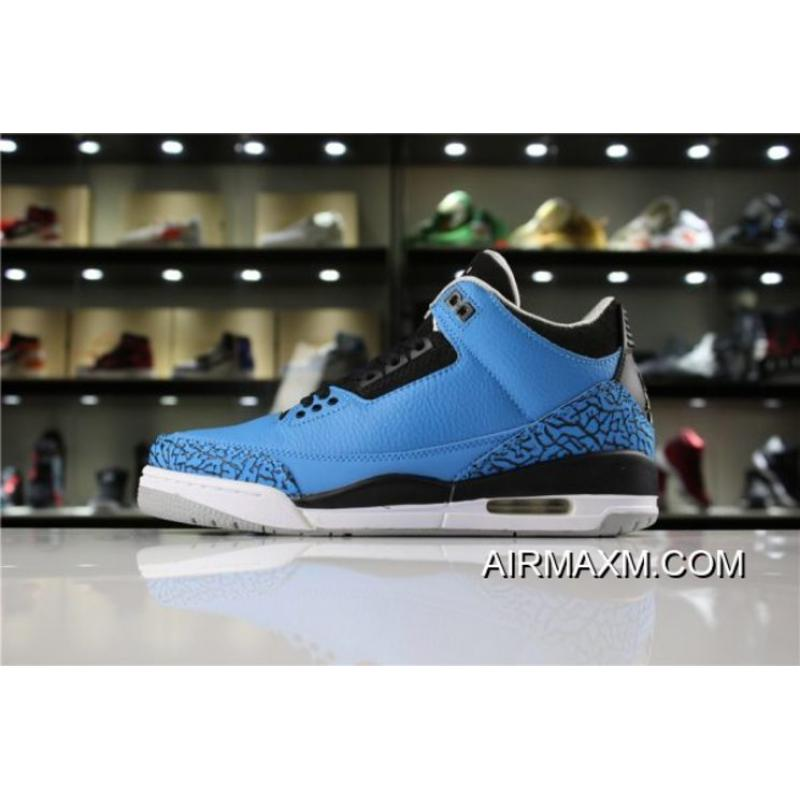 "fa7a5b4c3336c8 Women Men New Air Jordan 3 Retro ""Powder Blue"" Dark Powder Blue  ..."