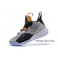 "New Year Deals Air Jordan 33 ""Elephant Print"" Black/Wolf Grey-Orange-White"