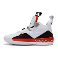 "Air Jordan 33 XXXIII ""Fire Red"" White/Fire Red-Black Free Shipping"