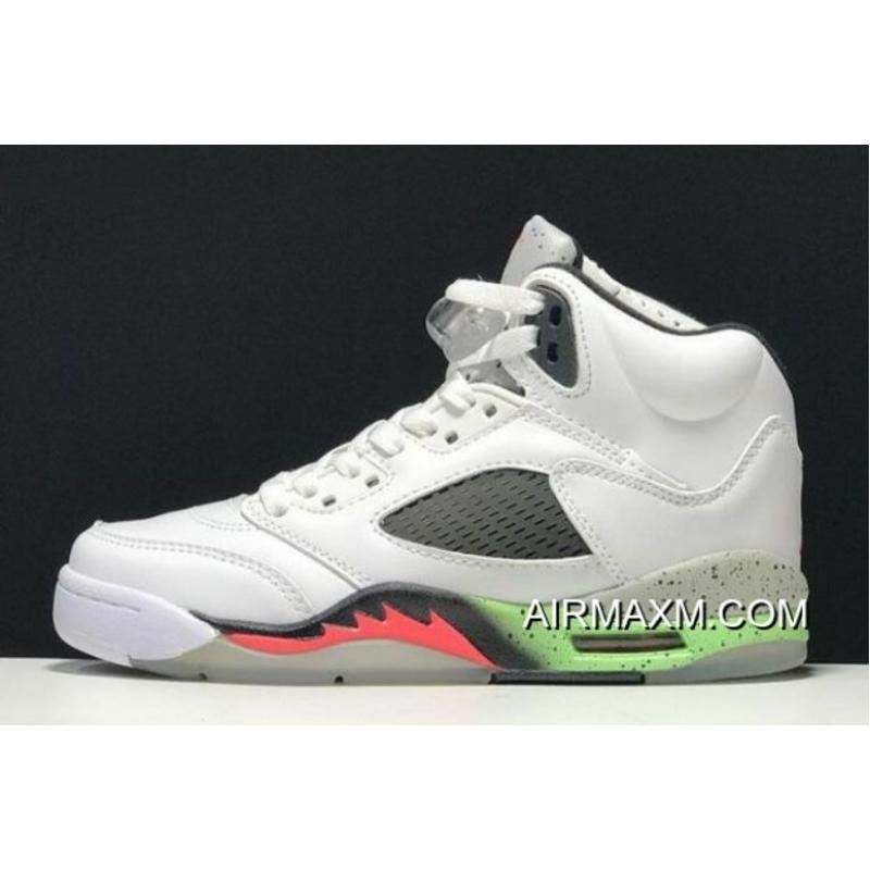"reputable site 5fa60 72bec Women Men For Sale Air Jordan 5 Retro ""Poison Green"" White Infrared ..."