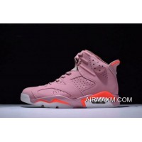 "Women/Men Aleali May X Air Jordan 6 Retro ""Millennial Pink"" 384664-031 Best"