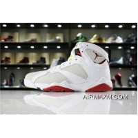 "Air Jordan 7 Retro ""Hare"" White/Light Silver/Tourmaline/True Red Men's And Women's Size Latest"