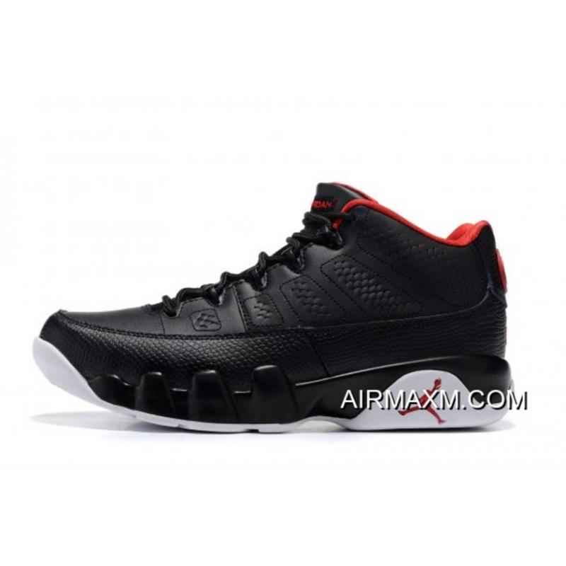 "more photos 02f07 45708 Latest Air Jordan 9 Retro Low ""Bred"" Black Gym Red-White Men s ..."