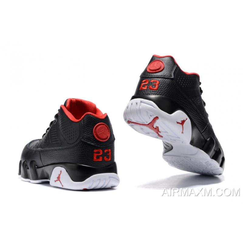 "a36f2d2f70956c Latest Air Jordan 9 Retro Low ""Bred"" Black Gym Red-White Men s Size ..."