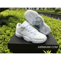 Top Deals Men Air Jordan 11 Low GS PRM HC Frost White