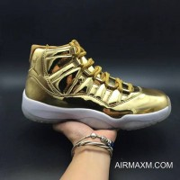 Authentic Men Air Jordan 11 Metallic Gold
