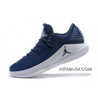 Outlet New Air Jordan 32 Low Midnight Navy/White Men's Basketball Shoes