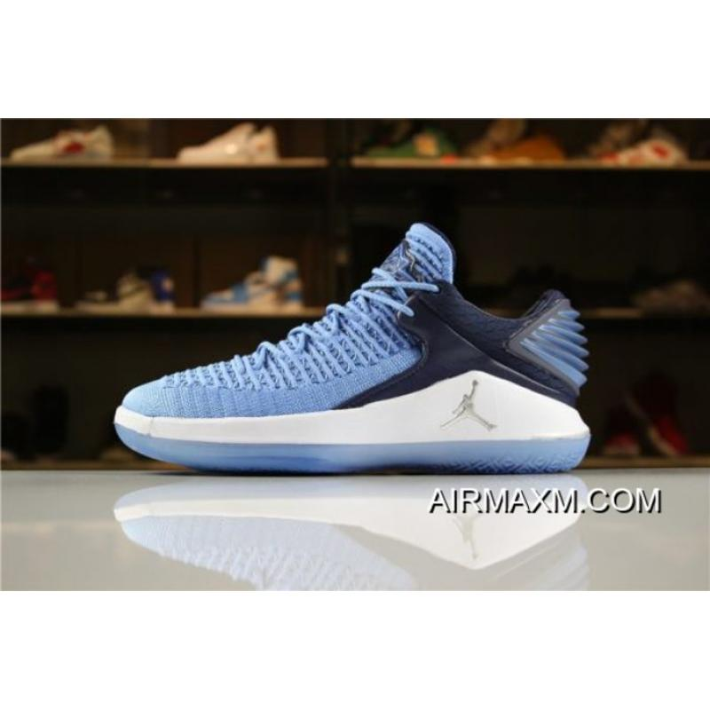 "5b7eb7e1d321 Men s Size Air Jordan 32 XXXII Low ""Win Like  82"" University Blue Online ..."
