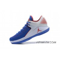 """New Air Jordan 32 XXXII Low """"Andre Drummond"""" PE Royal White Red New Year Deals"""