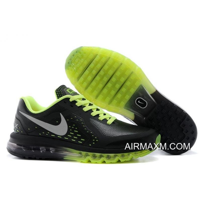 20e163d2f0 Air Max 2014 Men Leather Black Green Big Deals, Price: $67.60 - Nike ...