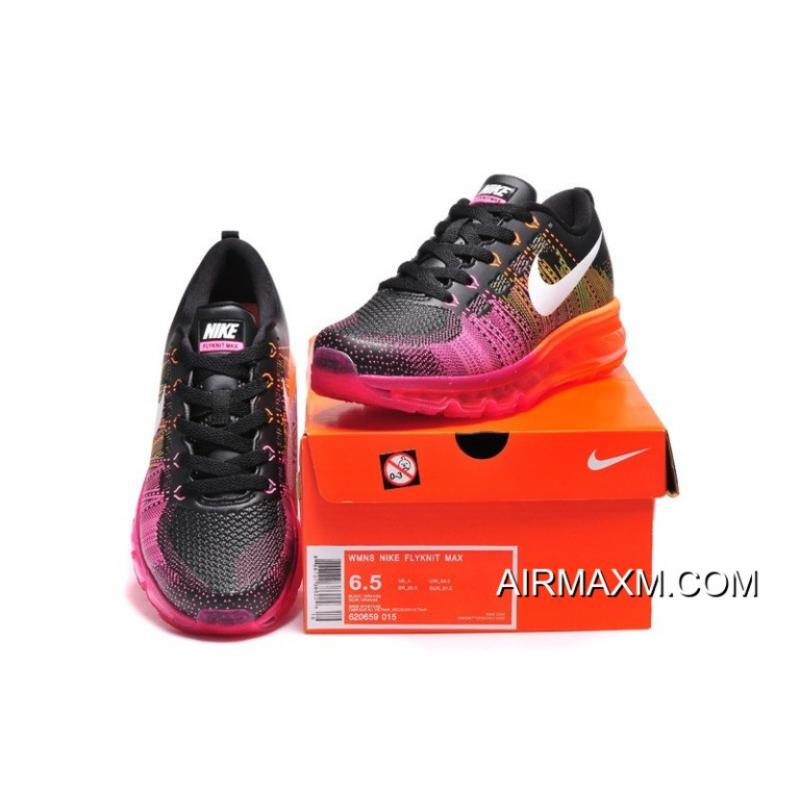 new styles be8d1 14203 ... Latest Flyknit Air Max 2014 Orange Black Purple Red ...