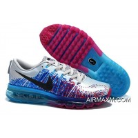 Outlet Nike Air Max 2014 Flyknit Black Blue Silber Purple