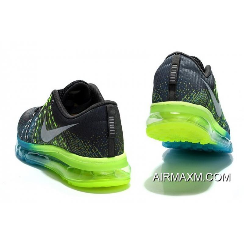 superior quality 25056 c9388 ... Big Discount Nike Air Max 2014 Flyknit Blue Green Grey