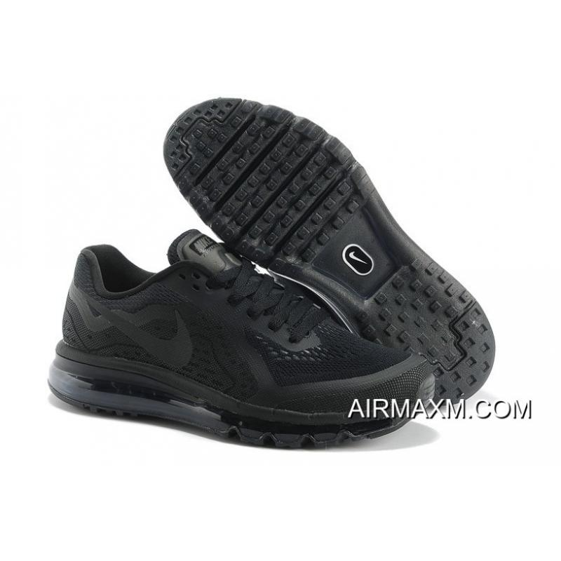 Nike Air Max 2014 Men Shoes All Black TopDeals