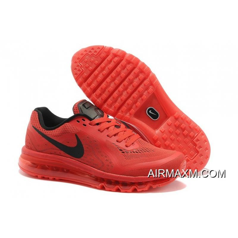 detailed look 1ee4e fee83 Authentic Nike Air Max 2014 Men Running Shoe Red Black ...