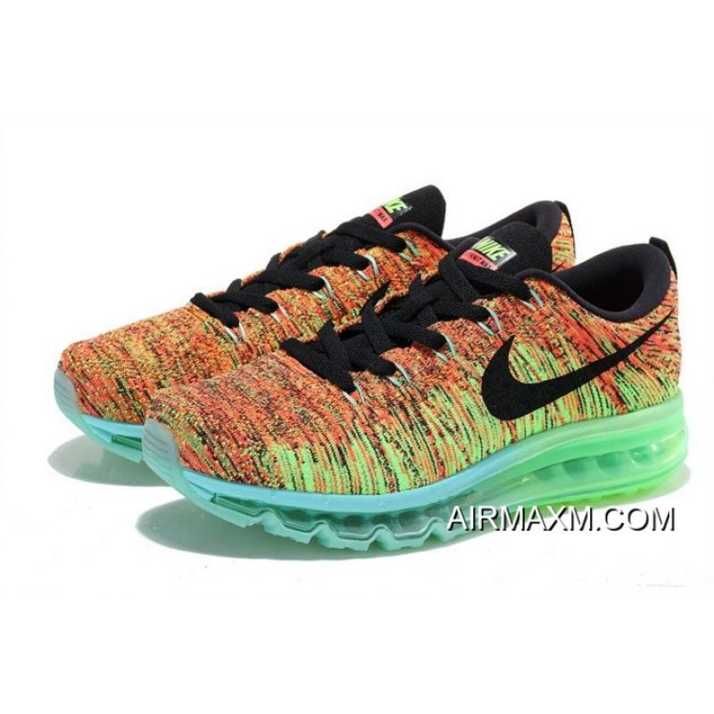 8fd2323de6 New Year Deals Nike Flyknit Air Max 2014 Black Green Orange, Price ...