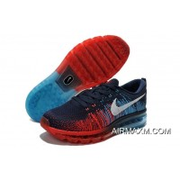 Where To Buy Nike Flyknit Air Max 2014 Fire Red Navy Blue