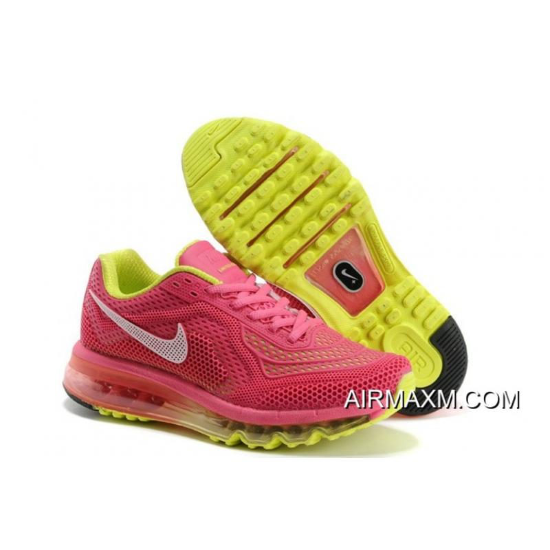 Womens Nike Air Max 2014 Running Shoes White Pink New Year