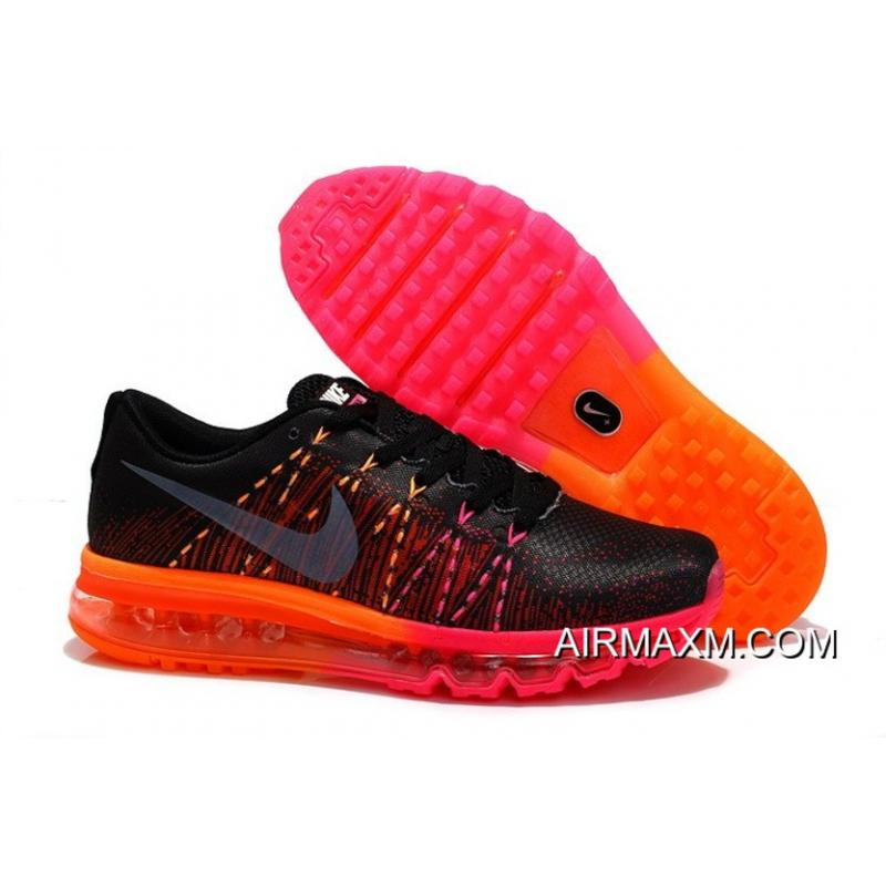 new style ed4f1 853d8 Women Nike Air Max 2014 Flyknit Black Red Orange Top Deals ...