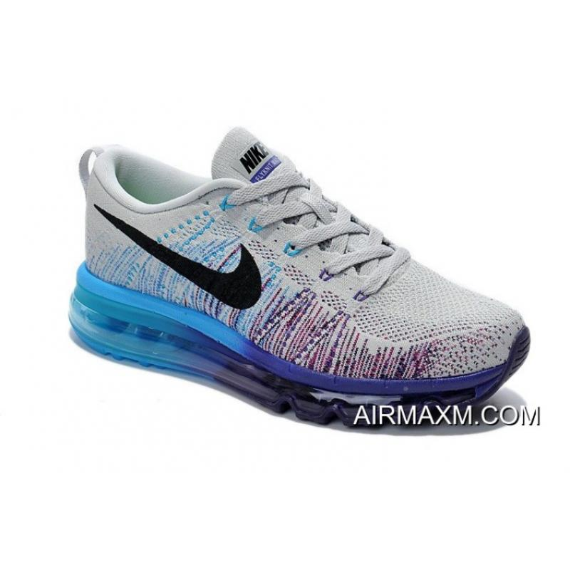 official photos 363da 6e684 ... inexpensive big discount women nike air max 2014 flyknit grey black  purple blue b4ee2 8369c