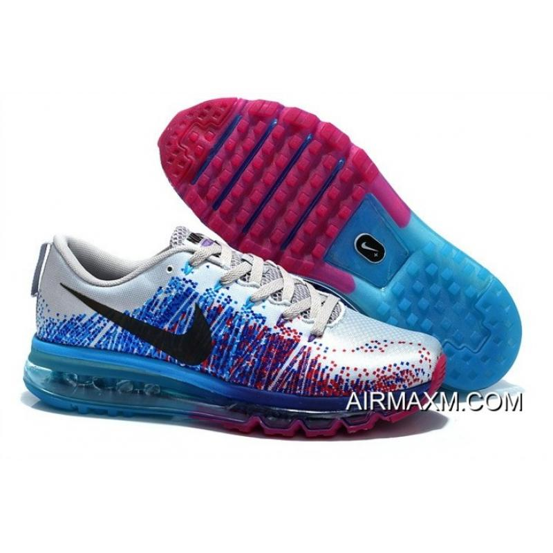 finest selection e34f0 9bb8c Women Nike Air Max 2014 Flyknit Purple Blue Grey Black Latest ...