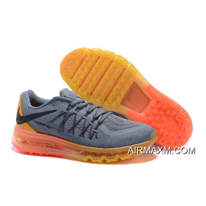new product 98114 25d2e Grey Yellow Black Orange Air Max 2015 Men Shoes New Year Deals ...