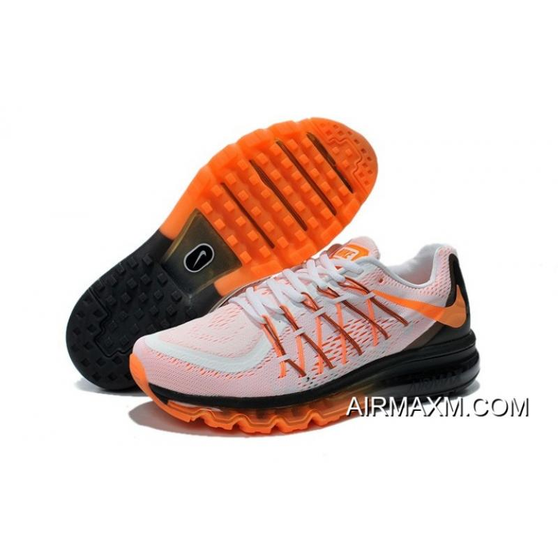 buy popular 21977 89605 ... cheapest authentic nike air max 2015 men white black orange running  shoes eb296 ba379