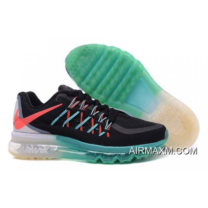 size 40 2c925 a518c Authentic Air Max 2015 Women Black Grass Green Grey Black Orange ...