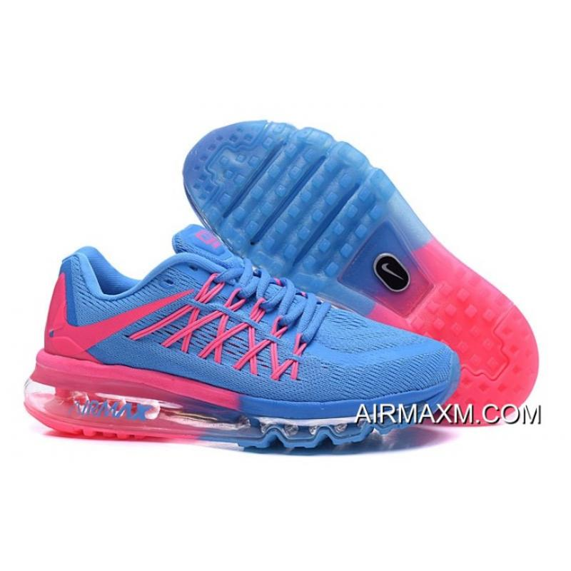sale retailer e67ae 59557 Super Deals Air Max 2015 Women Blue Pink Shoes ...