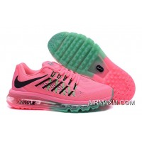 Authentic Air Max 2015 Women Grass Green Pink Black