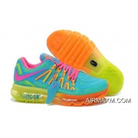 Outlet Nike Air Max 2015 Women Orange Pink Blue