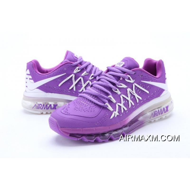 ddce825ea ... Online Nike Air Max 2015 Women Purple White Running Shoes