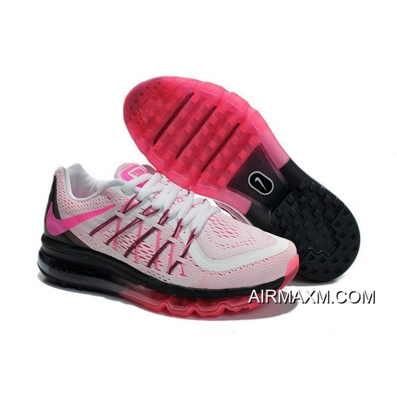new style 430e9 ee47d Big Deals Nike Air Max 2015 Women White Black Pink Running Shoes ...