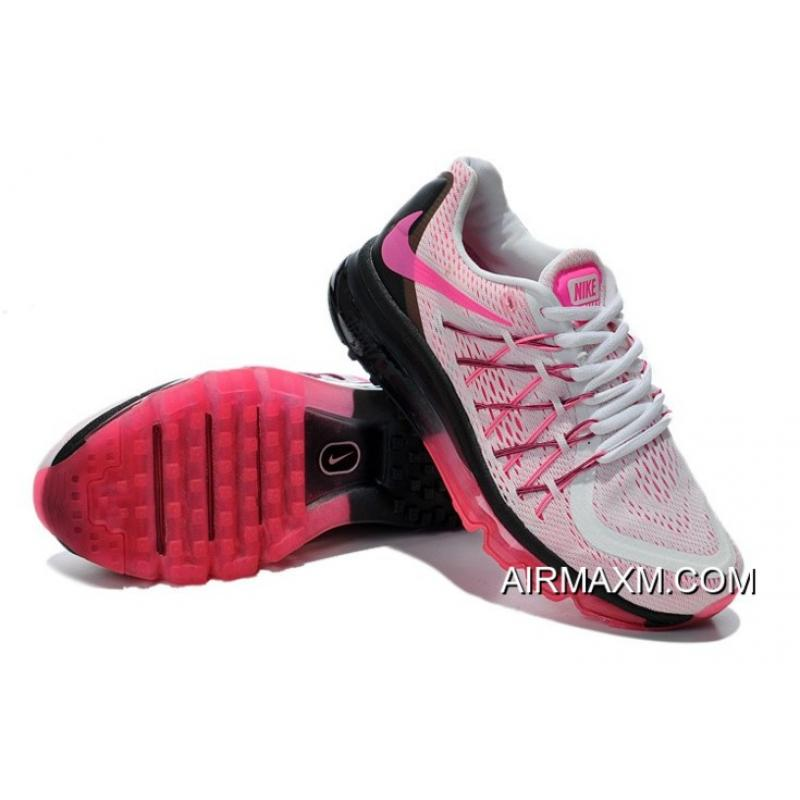 ca3499233812 ... Big Deals Nike Air Max 2015 Women White Black Pink Running Shoes ...